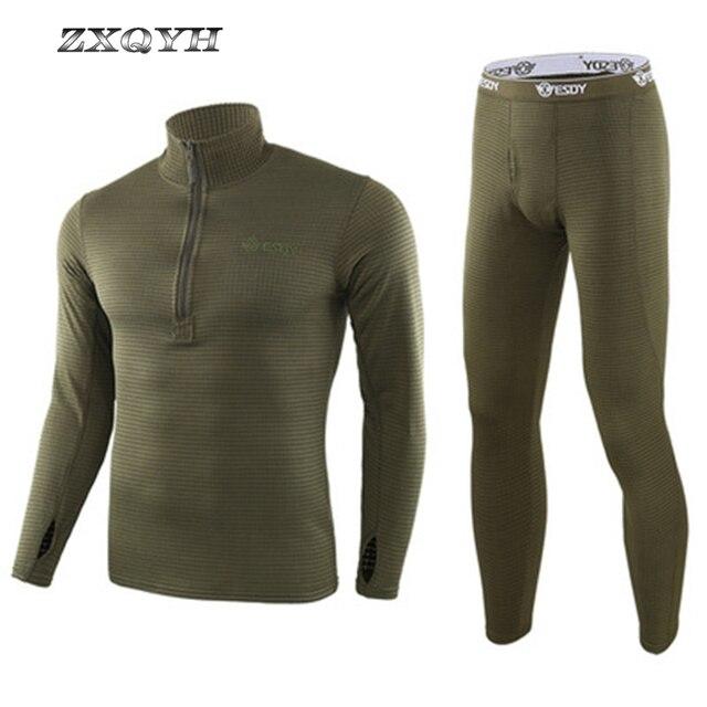 ZXQYH ความร้อนฤดูหนาวผู้ชายชุดทหารยุทธวิธี Uniform กีฬากลางแจ้งเสื้อผ้าที่อบอุ่นเสื้อ + กางเกงชุดชุด