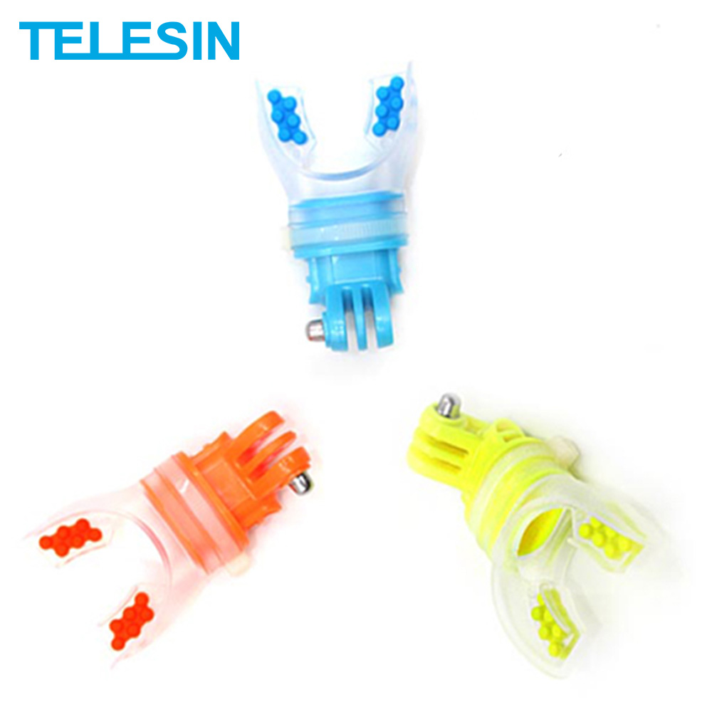 TELESIN Mouth Mount Surfing Skating Shoot Dummy Bite Mouthpiece Holder Adapter for GoPro 8 7 6 5 4 Osmo Action SJ4000 Xiaomi Yi