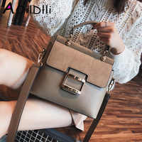 Women Bag Vintage Shoulder Bags 2018 Buckle PU Leather Handbags Crossbody Bags For Women Famous Brand Spring Sac Femme