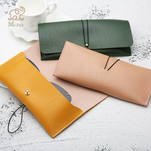 Creative Pu Leather Pencil Case Office Stationery School Supplies High Capacity PU Material Glasses Glass Storage Carry Bag