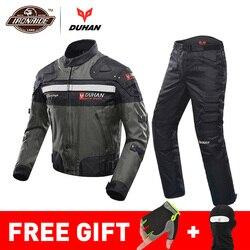 Духан ветрозащитный мотоциклетный гоночный костюм защитное снаряжение броня мотоциклетная куртка + мотоциклетные штаны хип протектор мот...
