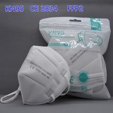 FILTER Face-Masks Ce-Ffp2 KN95 Protective Anti-Dust Reusable 5-Layers 50pieces