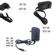 Adaptador de alimentação dc 5 v 9v 12 v 24v 1a 3a adaptador 220v a 5 v 12 v volt fonte do carregador universal interruptor ue eua plug 220v a 12 v