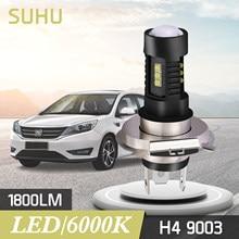 SUHU 2 pezzi H4 9003 60W 1800LM 6000K Auto COB LED conversione lampadina faro Hi/Lo fascio Auto Mini faro 2 pezzi lampadina Auto faro