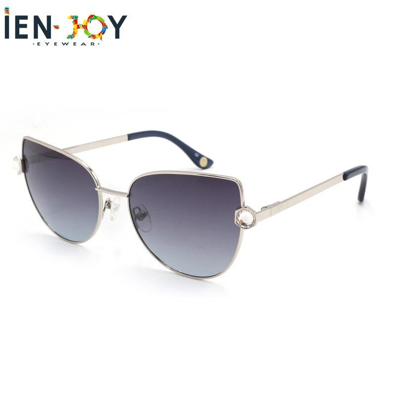 IENJOY Oculos De Sol Feminino Polarized Sunglasses Women Cat Eye Sun Glasses Vintage Oculos Ladies UV400 очки солнечны