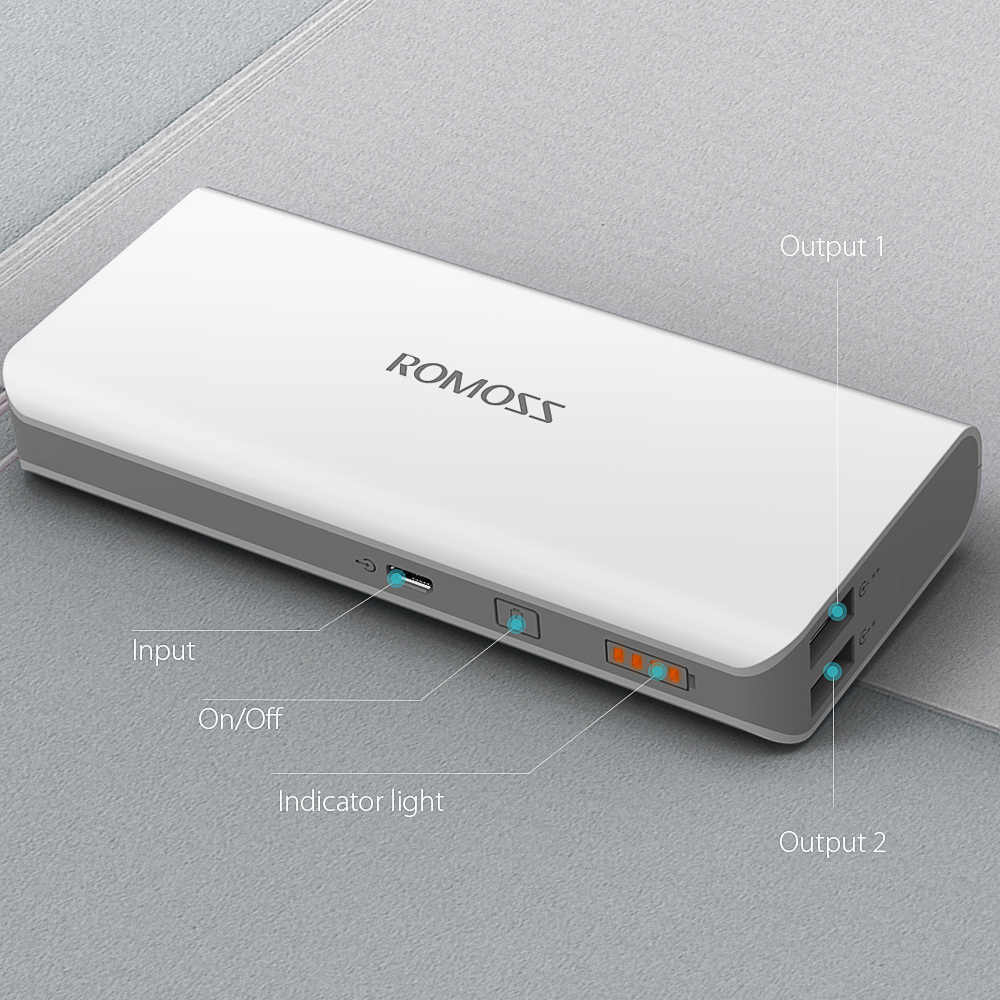 ROMOSS Power Bank 10000 mAh Mini Tragbare Aufladen Power 10000 mAh USB PoverBank Externe Batterie Ladegerät Für Xiaomi iPhone