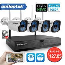 4CH 1080 720p ワイヤレス CCTV システムキット H.265 4CH NVR 2MP WIFI IP カメラ屋外防水ビデオセキュリティ監視キット p2P XMEYE