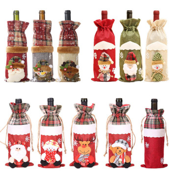 Christmas Decorations for Home Santa Claus Wine Bottle Cover Snowman Stocking Holders Christmas Gift Navidad Decor New Year 2021 new year gift santa claus wine bottle dust cover xmas noel christmas decorations for home navidad 2020 dinner table decor