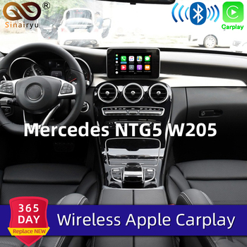 Sinairyu Wifi Wireless Carplay Mercedes C Class w205 NTG 5.1 5.2 5.5 Apple Car Play iOS13/Android Video Player Adapter for Benz