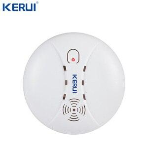 Image 5 - Kerui قابلة للربط كاشف لاسلكي عن الدخان الاستشعار الكهروضوئية الحساسة للأمن اللاسلكي نظام إنذار المنزل