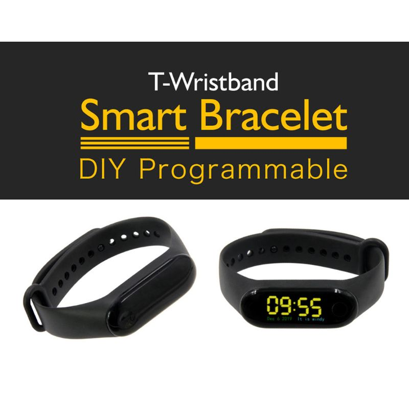 T-Wristband DIY <font><b>ESP32</b></font> Smart Bracelet Development Board Programmable <font><b>ESP32</b></font>-<font><b>PICO</b></font>-<font><b>D4</b></font> Main Chip image