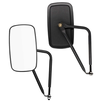 Door Off Mirror for Jeep Wrangler Side Mirrors Circular Rear View Quick Release Mirrors for 2007-2019 J-e-e-p Wrangler Jk Jl 2Pc