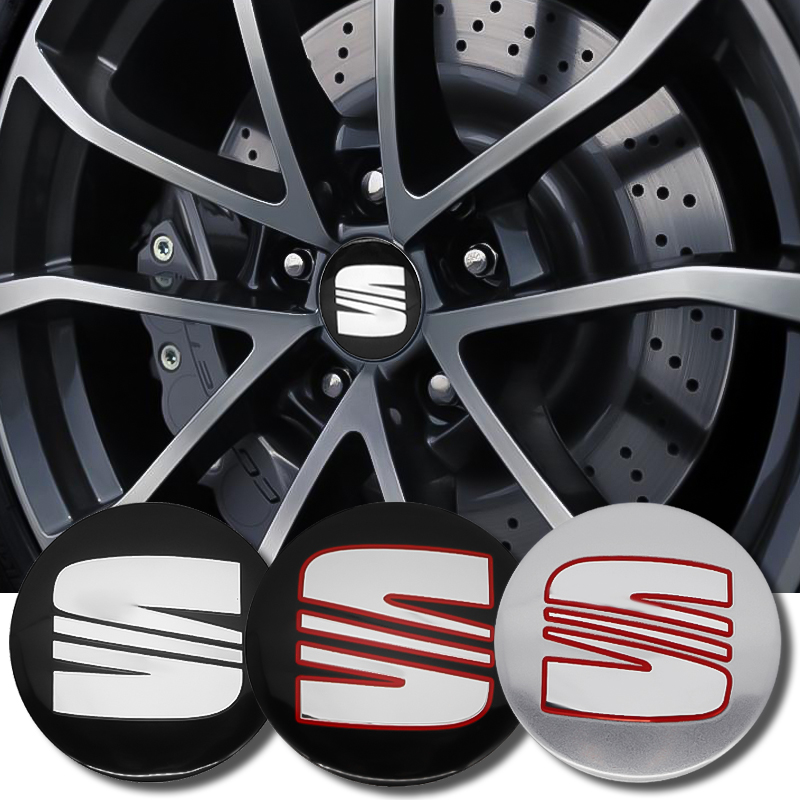 4PCS 56mm Car Styling Tire Wheel Center Hub Caps Covers Sticker For Seat FR Leon Ibiza Altea Alhambra Emblem Accessories