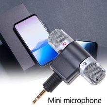 Mini microfone portátil microfone ds70p gravador de voz entrevista máquina móvel mini microfone para iphone samsung huawei computador