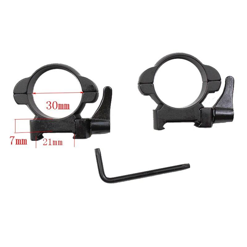 Rifle aço tecelão montagem 30mm perfil médio preto rápida destacam anéis de montagem