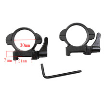 Rifle steel Weaver mount 30MM średni profil czarne szybkie odłączanie pierścienie mocujące