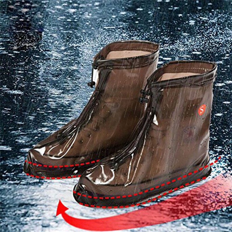 New Rain Shoes Boots Covers Overshoes Galoshes Travel for Men Women Kids