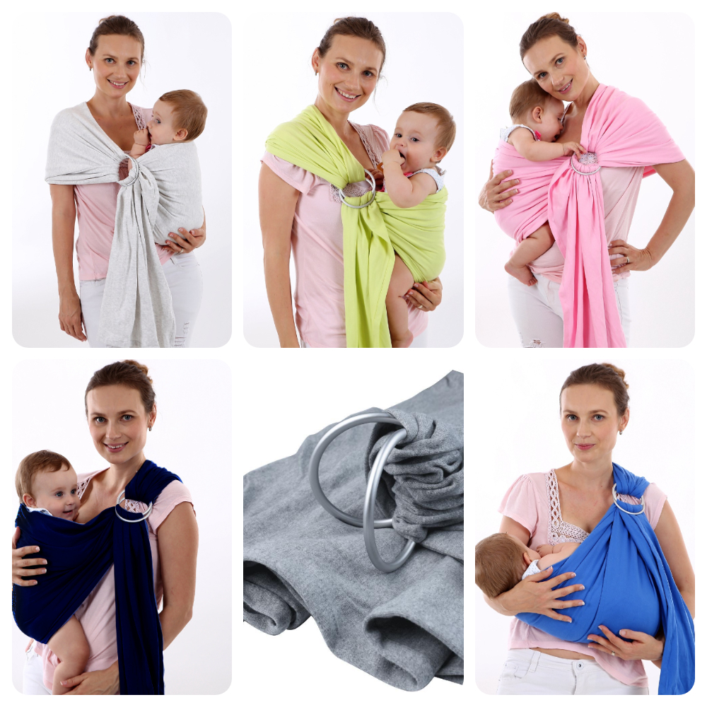 6 Colors Baby Sling With Ring Front Holding Ergonomic Straps Baby Bib Baby Sling Newborn Baby Wraps Multi-function Baby Carrier