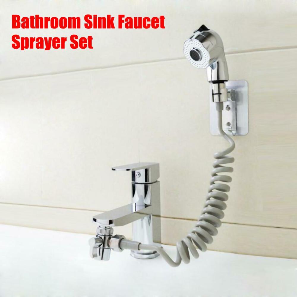 Ванной кран опрыскиватель спринклерной+база+шланг+клапан, установленный за раковиной раковина сопла анти-всплеск адаптер, фильтр воды головки ливня