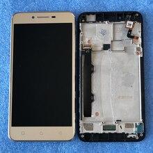 """الأصلي Axisinternational LCD الإطار 5.0 """"لينوفو فيبي K5 زائد A6020a46 شاشة الكريستال السائل شاشة + محول رقمي يعمل باللمس الجمعية"""