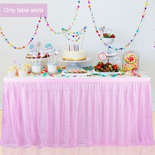 6ft/9ft Table skirts white ice silk wedding table skirt cloth decoration hotel banquet event home skirting