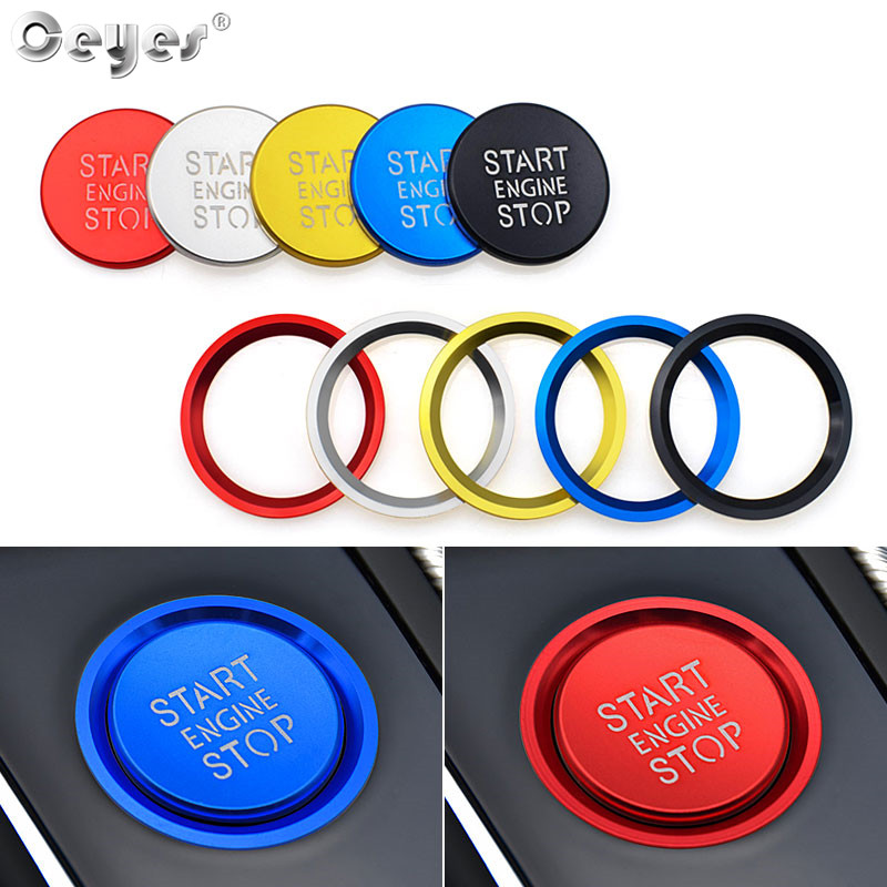 Car Start Stop Button Ring Cover For Audi A4 A5 B9 A6 A7 A6L Q3 Q7 C7 BT Accessories Car Styling Protective Cover