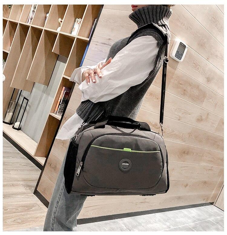 Short-distance Travel Bags Female Folding Business Bags Korean Fitness Bag