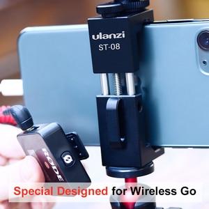 Image 2 - Ulanzi Soporte de Metal para teléfono móvil, Clip de soporte para teléfono móvil con zapata fría para micrófono Go inalámbrico Rode para iPhone 11 Pro Max Samsung Huawei