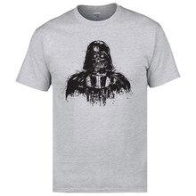 2018 Discount Man Top T-shirts Death Darth Vader The Dark Side Star Wars Tops & Tees European Normal T Shirt Cotton Fabric