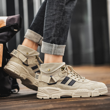 Casual Shoes Canvas Men's Warm Trend Wild Breathable Boots Lace Lightweight Martin Outdoor