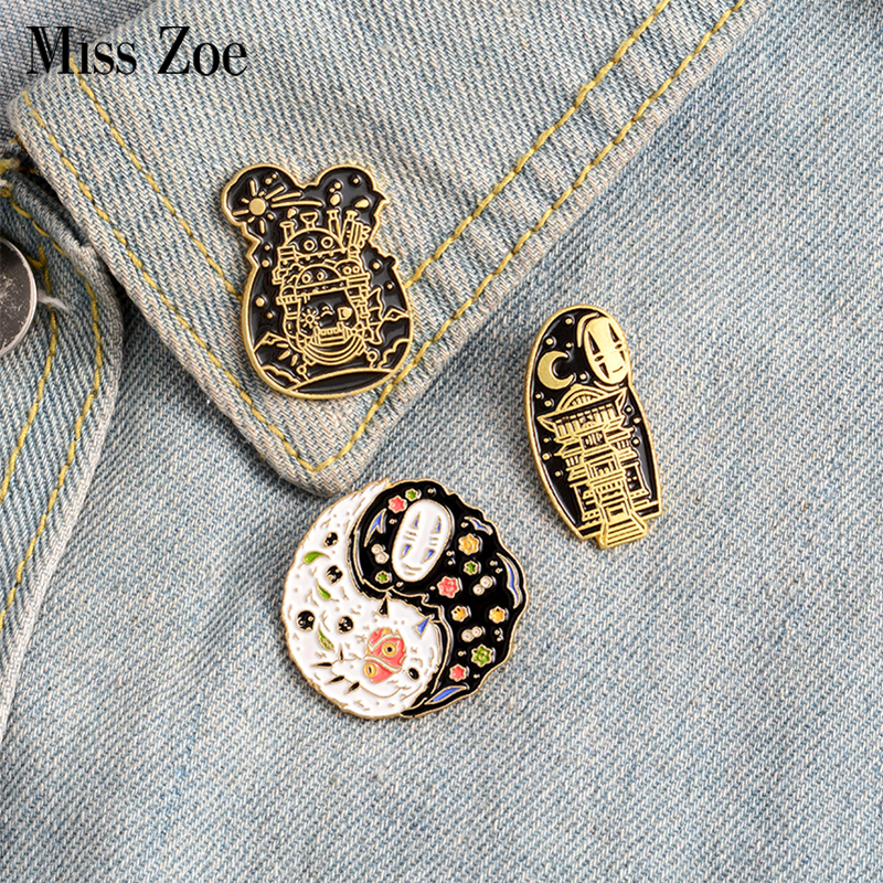 Cartoon Movie Enamel Pin Custom Japanese Anime Brooches Taichi Badge for Bag Lapel Pin Buckle Jewelry Gift for Kids Friends 1