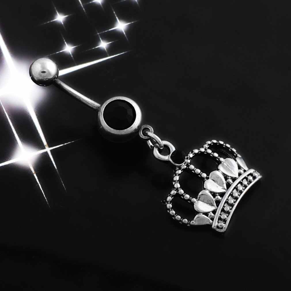 Q00922 Trái Tim Trái Tim Thái Rốn Nhẫn Pha lê Bụng Nhẫn Rốn Xuyên Rốn Nhẫn Trang Sức