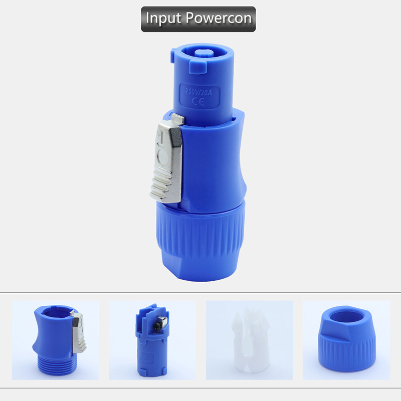 Image 2 - 50pcs NAC3FCA NAC3FCB PowerCon Connector 3pins 20A 250V Powercon Male Plug, with CE/RoHS,Blue(Input) & Light Grey(Output)-in Connectors from Lights & Lighting
