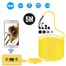 Endoscope-Camera Borescope Led-Cable Wifi-Inspection 8 Waterproof Wireless HD IP68 8mm