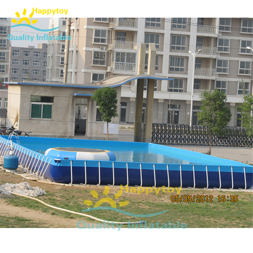 Portable Family Rectangular Pvc Frame Above Ground Swimming Pool
