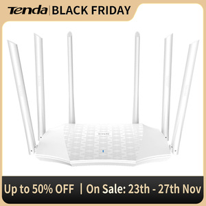 Tenda AC21 AC2100 Router Gigabit 2.4G 5.0GHz Dual-Band 2033Mbps Wireless Router Wifi Repeater with 6 High Gain Antennas Wider