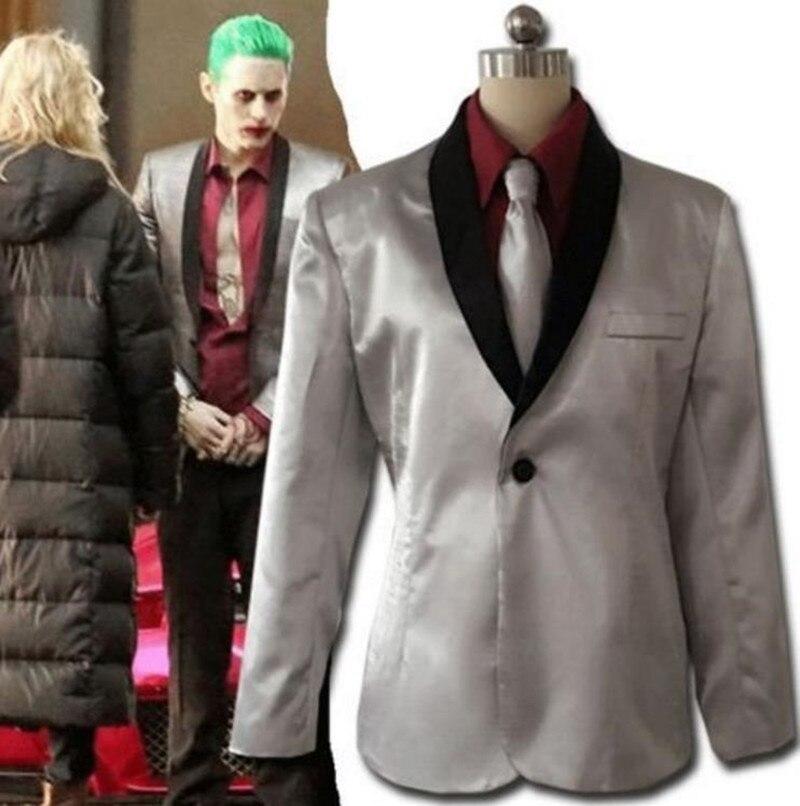Batman Suicide Squad Jared Leto Joker Cosplay Costume Uniform Outfit Shirt Suit