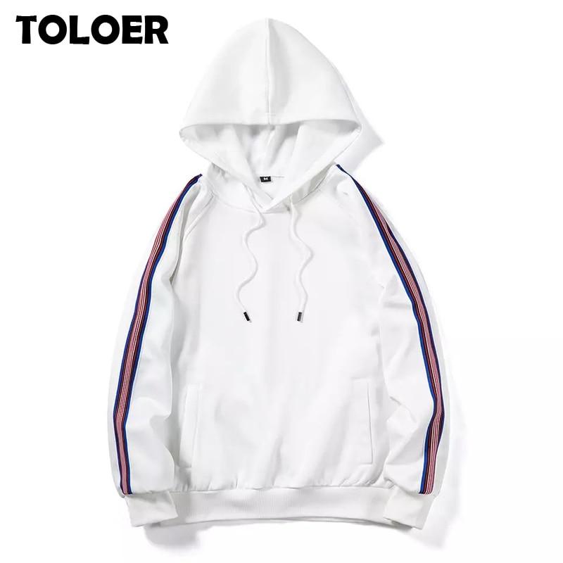 Mens Hoodies Long Sleeve Sweatshirt 2020 Autumn Winter Solid Color Hip Hop Pullover Sweatshirt  Streetwear Slim  Hoodies Men 5XL