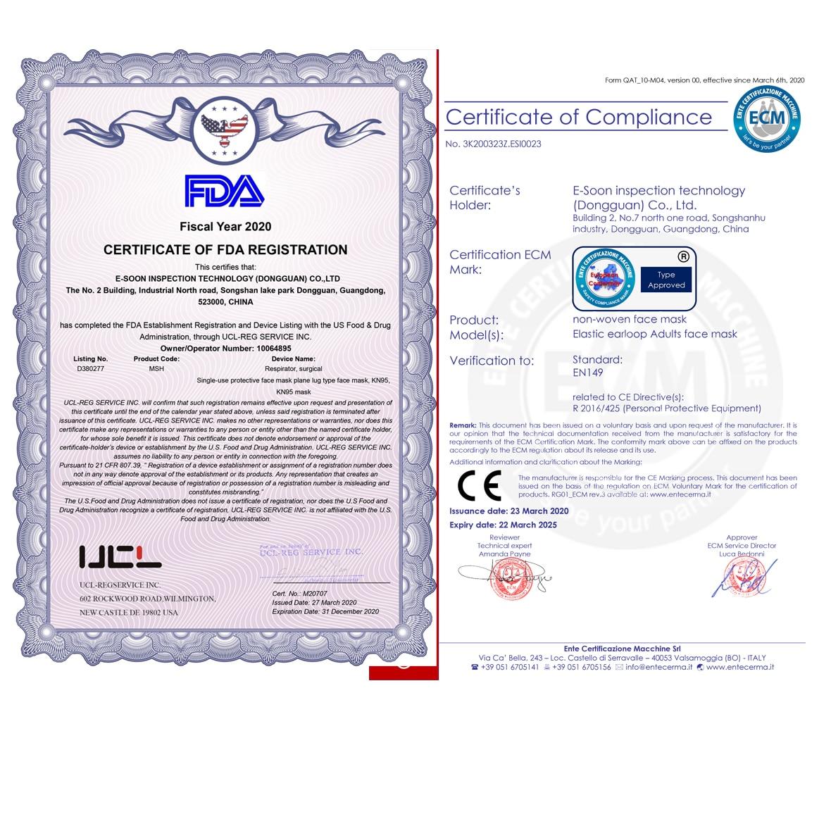 50 pièces de Masque de Protection & Jetables Anti-poussière - Bouche - Nez - Contre le Coronavirus 5
