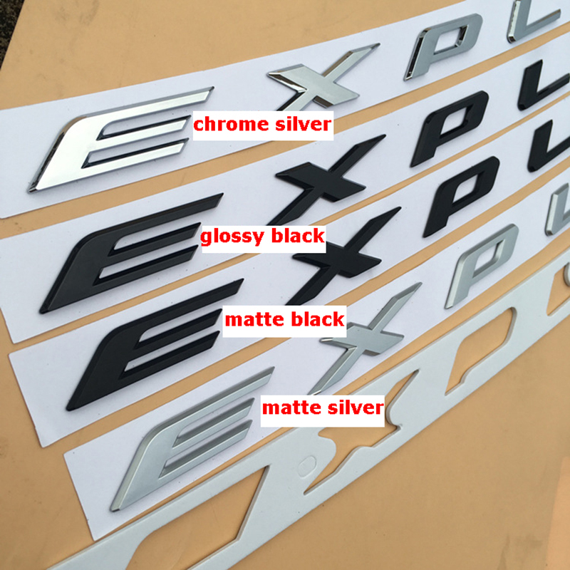 DIY ABS Letters Emblem Logo for Ford EXPLORER Car Styling Front Hood Letter Badge Sticker Replacement Glossy Black Matte Silver in Car Stickers from Automobiles Motorcycles