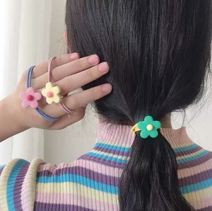 Hair-rope Elastic Band Head Band  Fashion  Candy Color Flower Pattern Ropes Ties Hair Accessories For Girl New