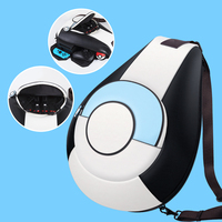 N Switch Storage Bag for Nintend Switch Portable Protective Carrying Pokeball Bag Soft PU Leature Backpack Big Capacity NS Bags