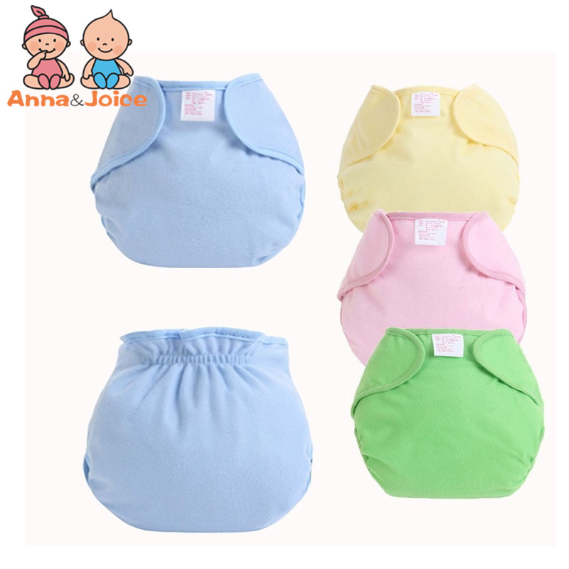 1pc/retail Reusable Baby Infant Nappy Cloth Diapers Soft Cotton Solid Color Baby Nappy