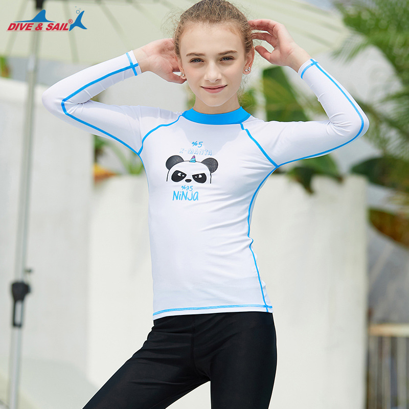 Divesail New Style Swimsuit Children Outdoor Sun-resistant Diving Suit Long Sleeve Split Type Teenager Quick-Dry Jellyfish Cloth