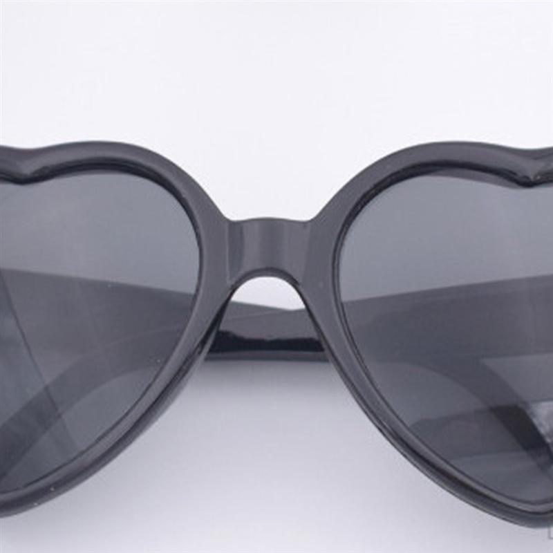 SOIMISSPeach Heart Special Effects Glasses Interesting Eyewear Light Diffraction Glasses Funny Eyeglasses for Bar Night Club White