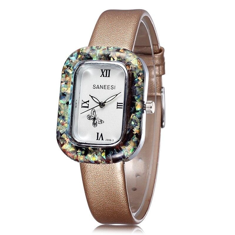 2020 New Listing Fashion Luxury Women Quartz Watch Fashion Simple Women Gift Watch Leather Strap Relogio Feminino Reloj Mujer