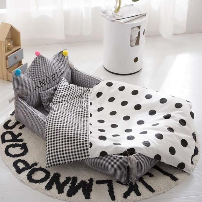 Newborn baby Nest travel Crib cotton Portable Crib baby kids Sleeping Bed outdoor Nursing Safety Protection BXX046