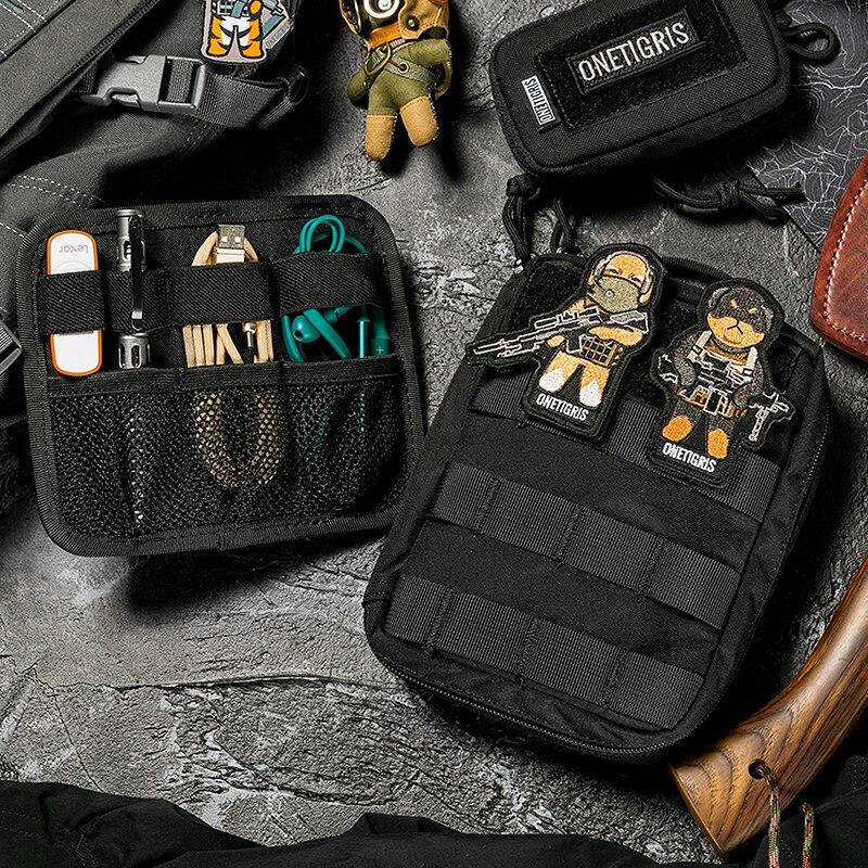 OneTigris Tacti-Tech Electronics Organizer Travel Pouch Electronics Accessories Bag Kindle & Gadget MOLLE Pocket Bag