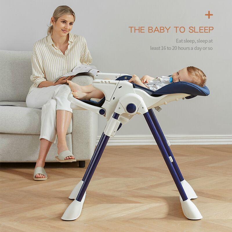 Роскошный мульти-Функция лежающие детские стульчик для кормления с Колеса детский обеденный стол кресло детское кресло для сна легкая установка 1