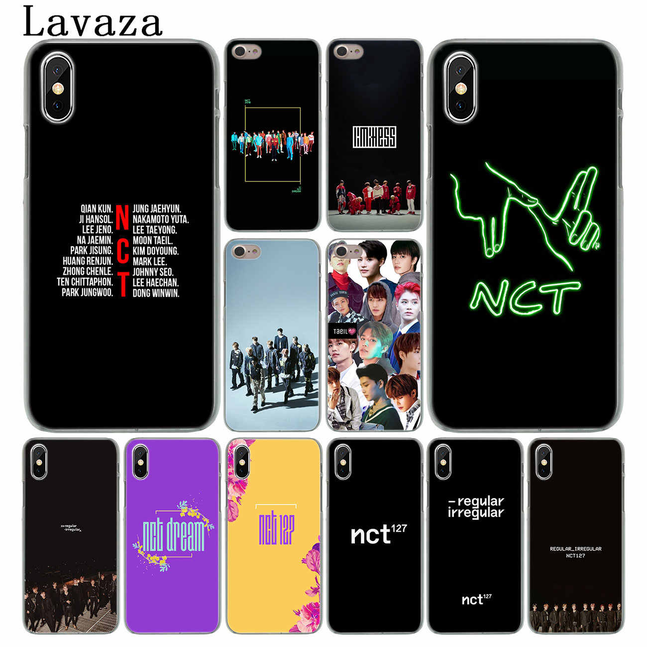 Lavaza NCT 127 Hard Phone Case for iPhone XR XS X 11 Pro Max 10 7 8 6 6S 5 5S SE 4S 4 Cover